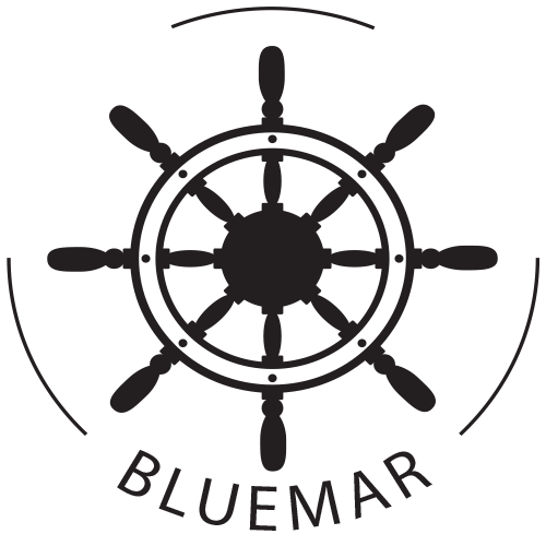 bluemar logo black